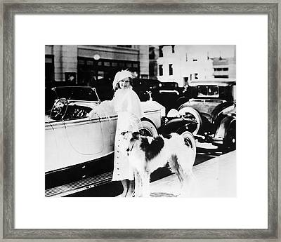 Jean Harlow Framed Print by Silver Screen