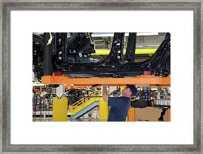 Jeep Grand Cherokee Assembly Line Framed Print