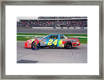 Jeff Gordon Framed Print by Retro Images Archive