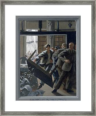 3. Jesus Drives Out The Money Changers / From The Passion Of Christ - A Gay Vision Framed Print by Douglas Blanchard