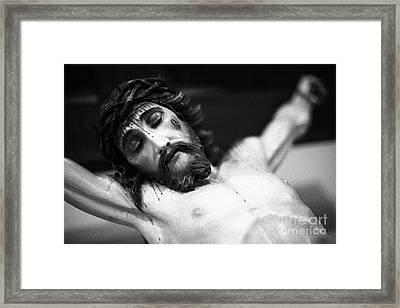 Jesus On The Cross Framed Print by Gaspar Avila