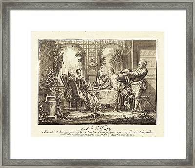 Joseph De Longueil After Charles Eisen French Framed Print by Quint Lox