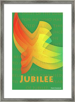 Framed Print featuring the digital art Jubilee by Chuck Mountain