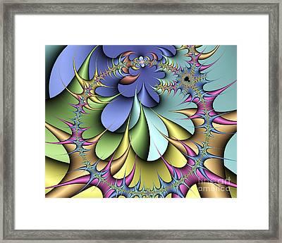 Julia Fractal Framed Print by Victor Habbick Visions
