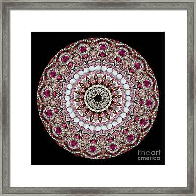 Kaleidoscope Colorful Jeweled Rhinestones Framed Print by Amy Cicconi