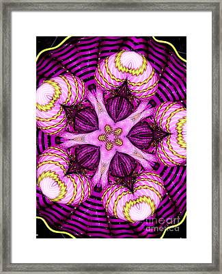 Kaleidoscope Of Blown Glass Framed Print