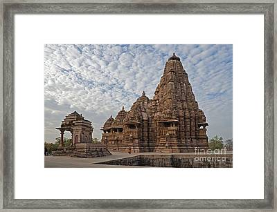 Kandariya Mahadeva Temple Khajuraho India Framed Print by Rudra Narayan  Mitra