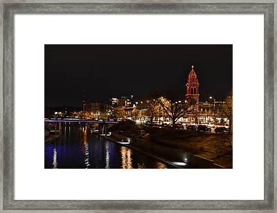 Kansas City Country Club Plaza Framed Print by Shelley Wood