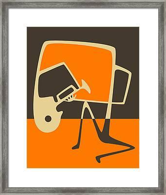 The Blues Horn Framed Print