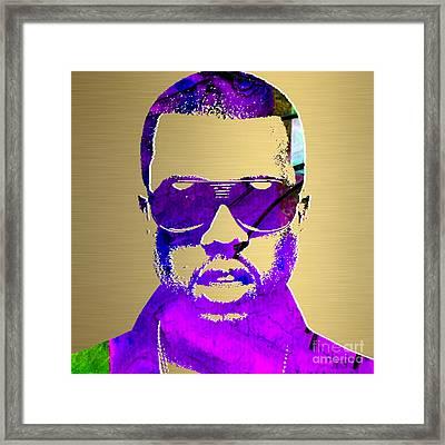 Kanye West Gold Series Framed Print