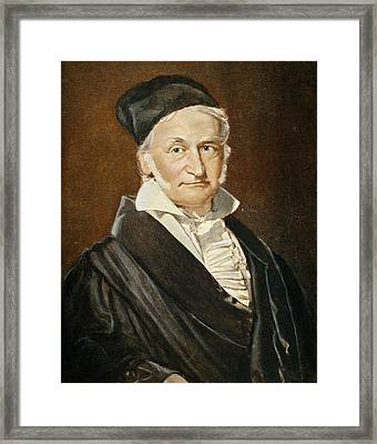 Karl Friedrich Gauss (1777-1855) Framed Print by Granger