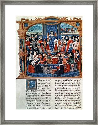 King Louis Xi Of France Framed Print