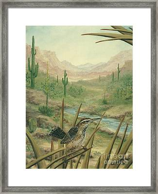 King Of The Cactus Framed Print