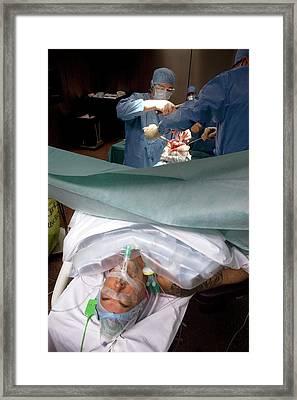Knee Replacement Surgery Framed Print by Patrick Landmann