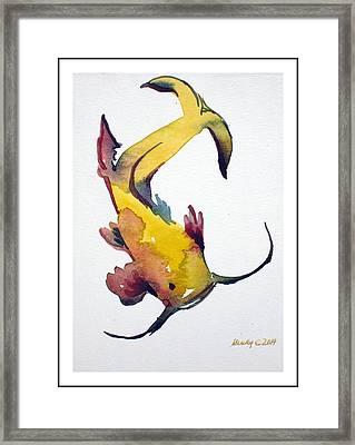 Koi Framed Print by Mindy Newman