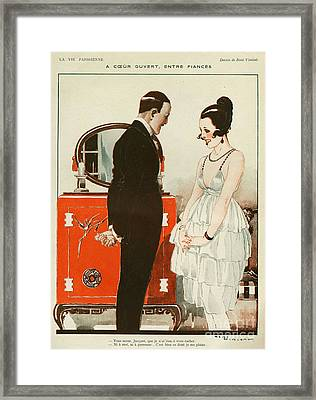 La Vie Parisienne 1919 1910s France Cc Framed Print by The Advertising Archives
