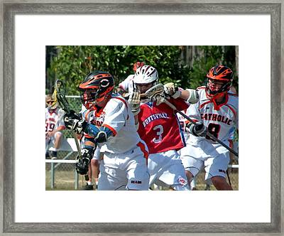 Lacrosse Framed Print by Barry Spears