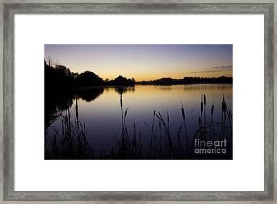 Lake Sunrise Framed Print by Darren Burroughs