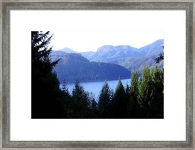 Lakes 8 Framed Print