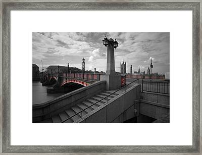 Lambeth Bridge Thames London Framed Print