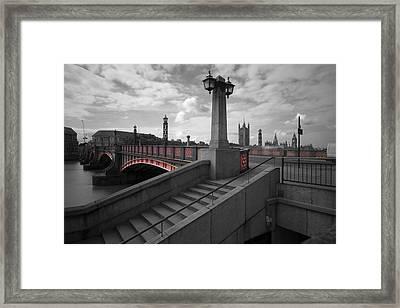 Lambeth Bridge Thames London Framed Print by David French