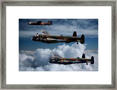 3 Lancaster Bombers Framed Print by Ken Brannen