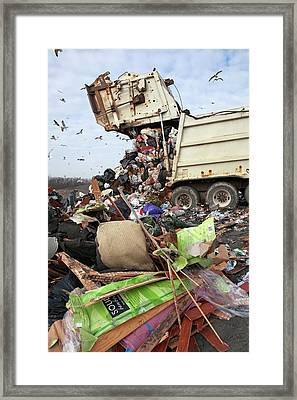 Landfill Site Framed Print by Jim West