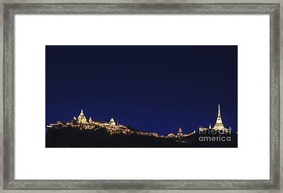 Landscape Of Phetchaburi Province Framed Print