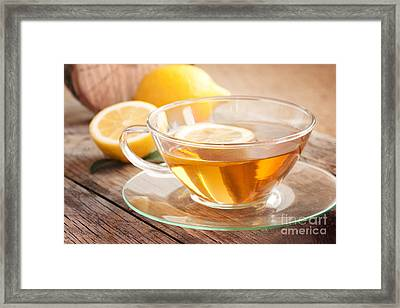 Lemon Fruit Tea Framed Print