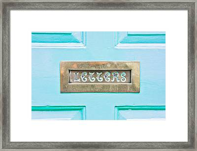 Letterbox Framed Print by Tom Gowanlock