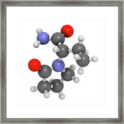Levetiracetam Epilepsy Drug Molecule Framed Print by Molekuul