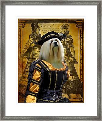 Lhasa Apso Art Canvas Print Framed Print