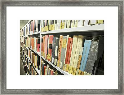 Library Interior Framed Print by Photostock-israel