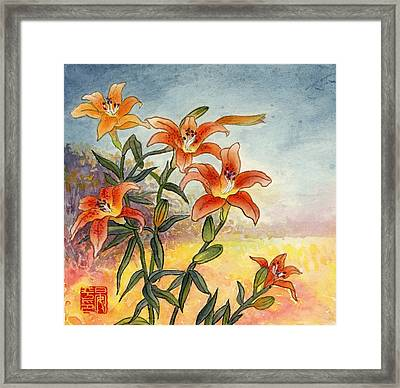 Lily Framed Print by Ping Yan
