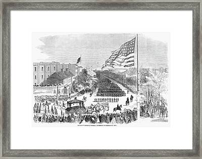 Lincoln's Funeral, 1865 Framed Print by Granger