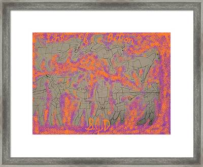 Line Of Action Framed Print by Joe Dillon