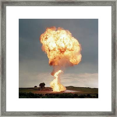 Liquid Petroleum Gas Tank Failure Testing Framed Print