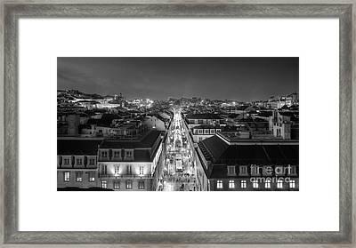 Lisbon Downtown Framed Print by Carlos Caetano