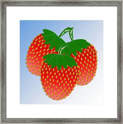 3 Little Berries Are We Framed Print by Andee Design