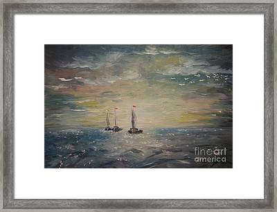3 Little Boats Framed Print by Isabella F Abbie Shores FRSA