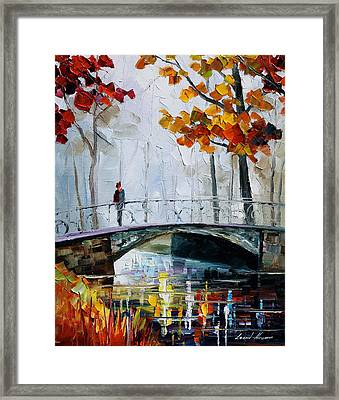 Little Bridge Framed Print by Leonid Afremov