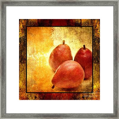 3 Little Red Pears Are We 2 Framed Print by Andee Design