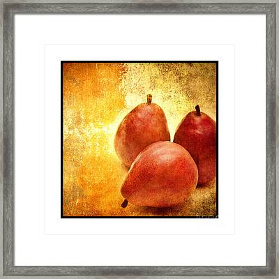 3 Little Red Pears Are We 3 Framed Print by Andee Design