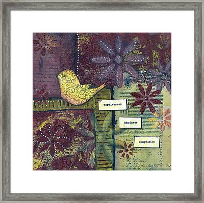 3 Little Words Framed Print by Sue Brassel