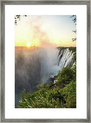 Livingstone, Zambia - Victoria Falls Framed Print by Edwin Remsberg