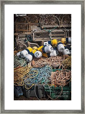 Lobster Fishing Framed Print