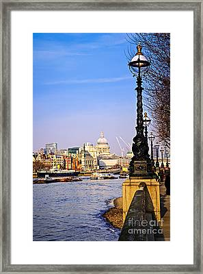 London View From South Bank Framed Print