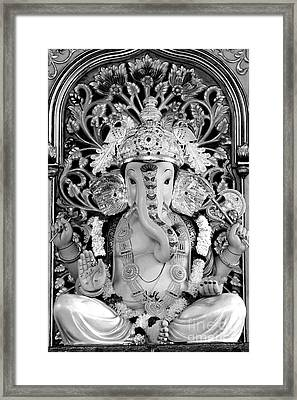 Lord Ganesha Framed Print by Kiran Joshi