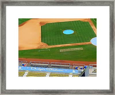 Los Angeles Dodgers Framed Print by Jeff Lowe