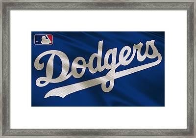 Los Angeles Dodgers Uniform Framed Print